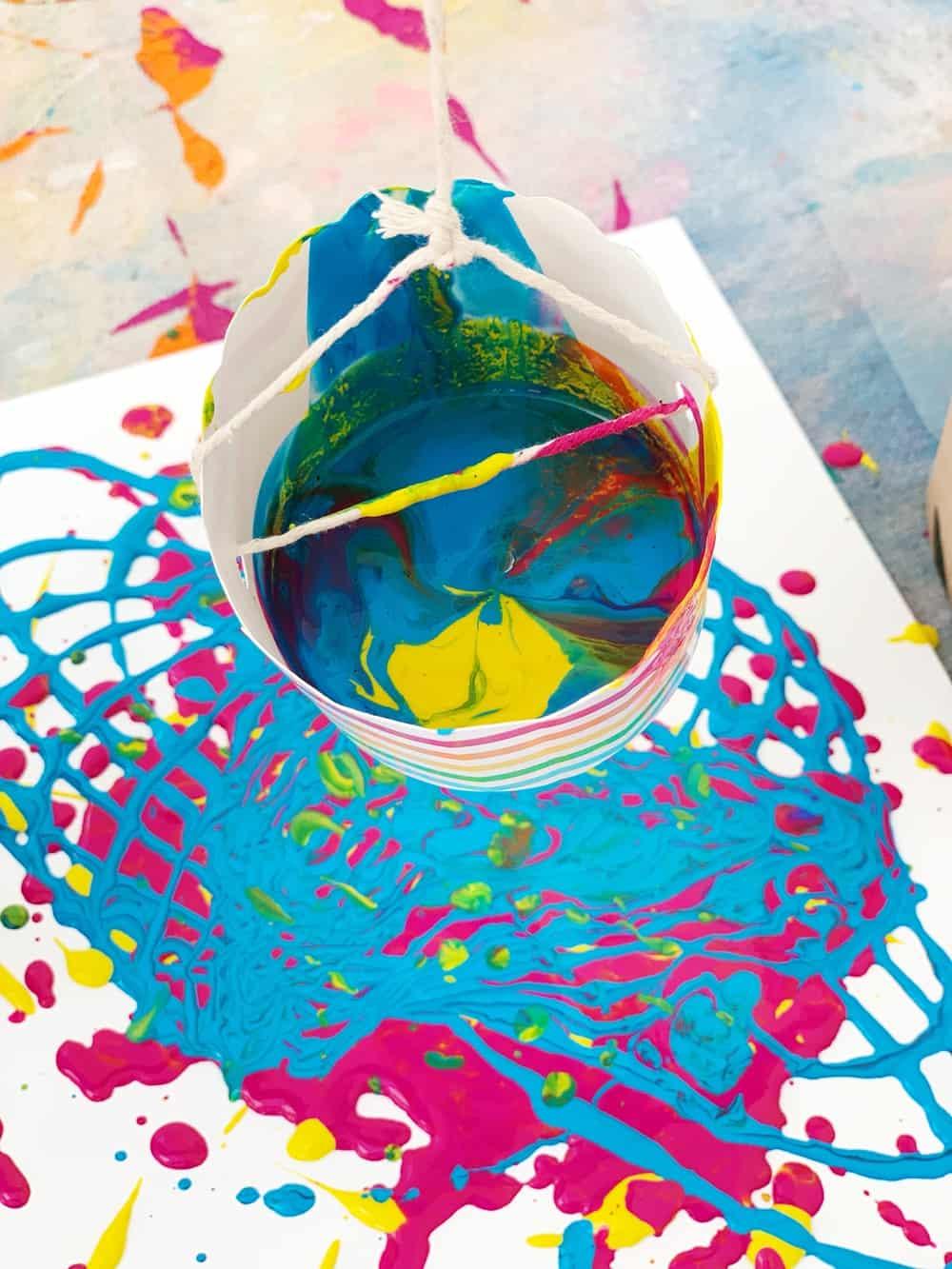 How To Make Pendulum Painting With Kids Hello Wonderful