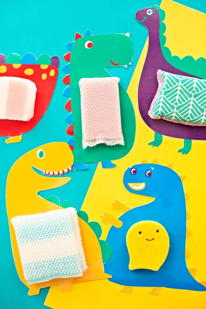 Touch and Feel Sensory Dinosaur Cards