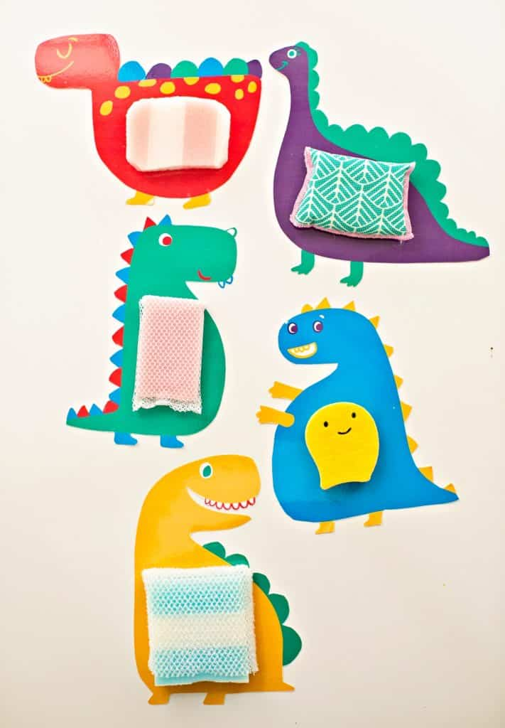 Printable Touch and Feel Sensory Dinosaur Cards