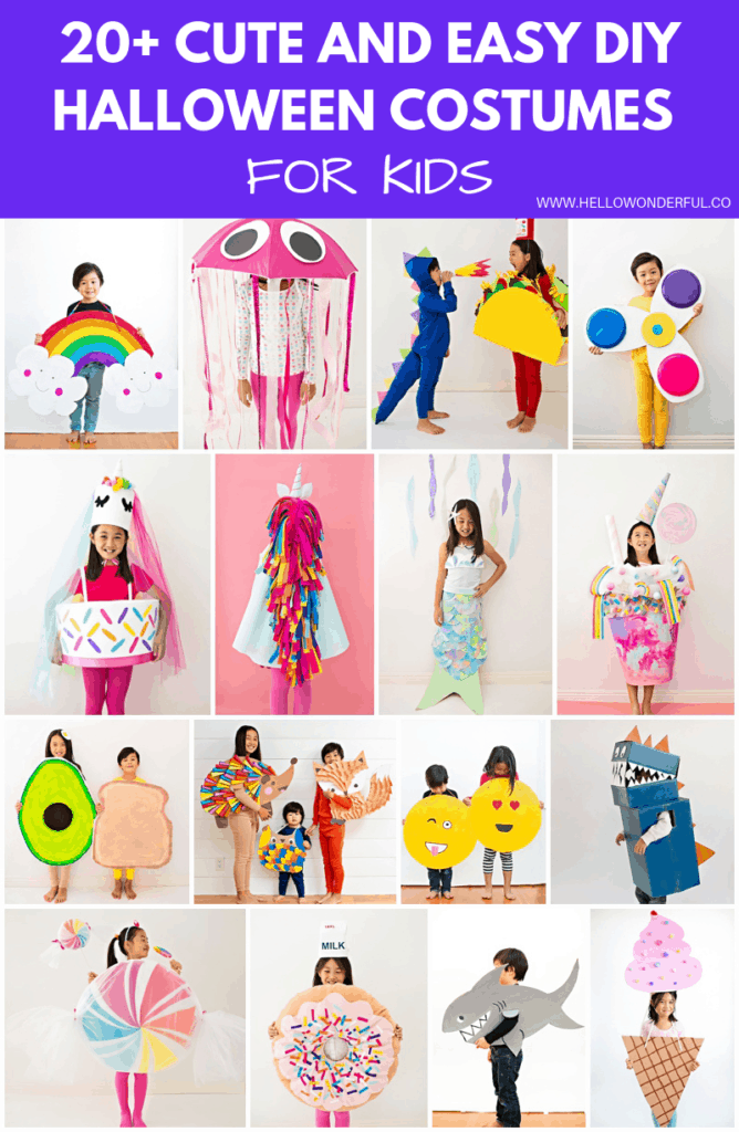 20 Plus cute and easy DIY Halloween costumes for kids