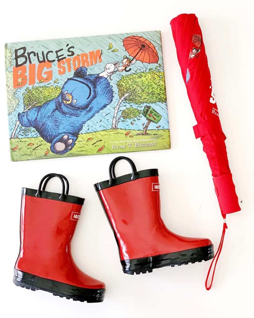 DIY Rain Boot Planters inspired by Bruce's Big Storm Book - materials