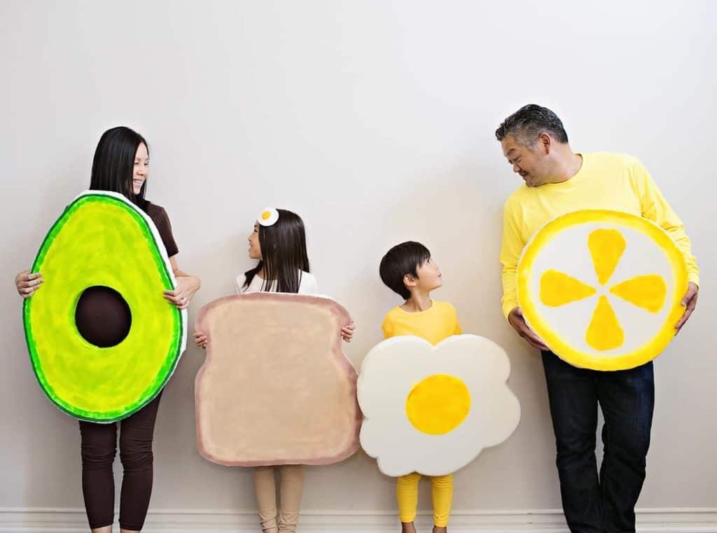 DIY FAMILY AVOCADO TOAST COSTUMES