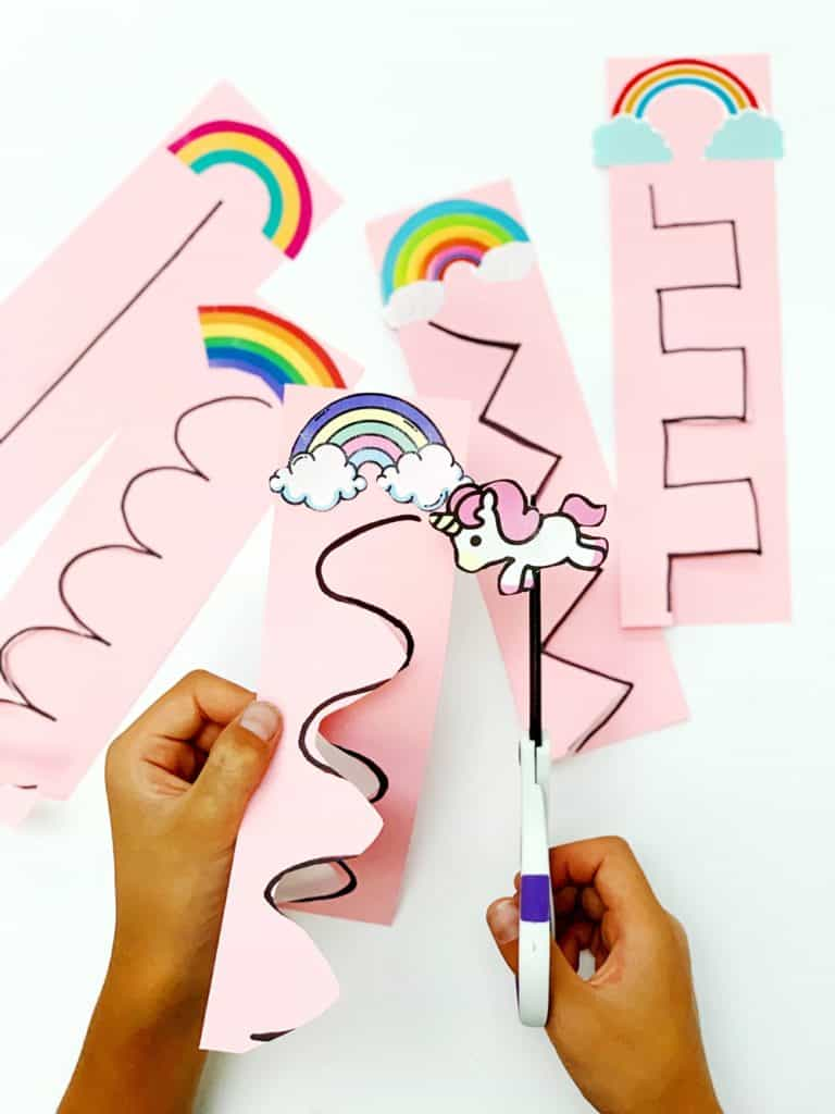Unicorn Rainbow Scissor Cutting Activity
