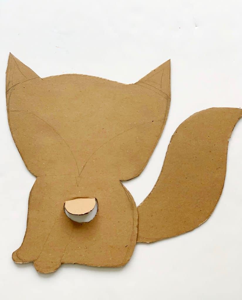 DIY Cardboard Fox Costume For Kids - process