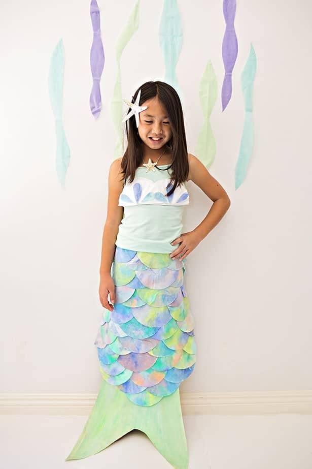 easy diy mermaid costume for kids