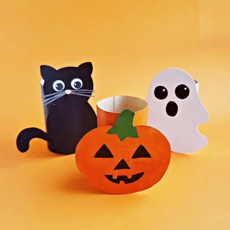 TOILET PAPER TUBE HALLOWEEN CRAFT FOR KIDS