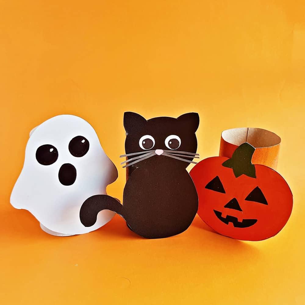 Toilet Paper Tube Halloween Craft for Kids