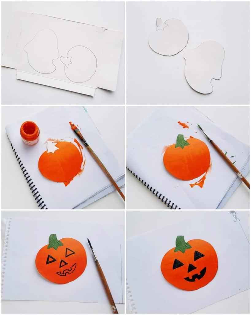 Toilet Paper Tube Halloween Craft for Kids - process