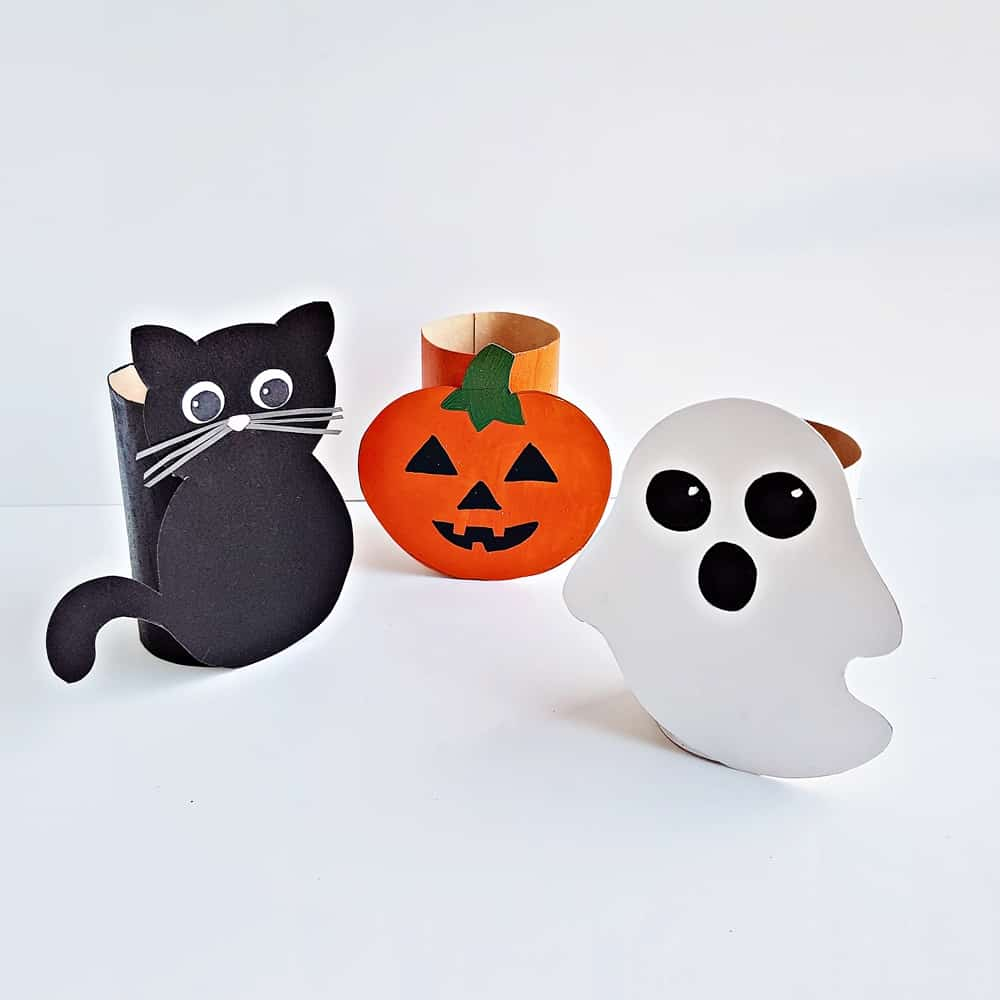 Toilet Paper Tube Halloween Craft for Kids - with free printable