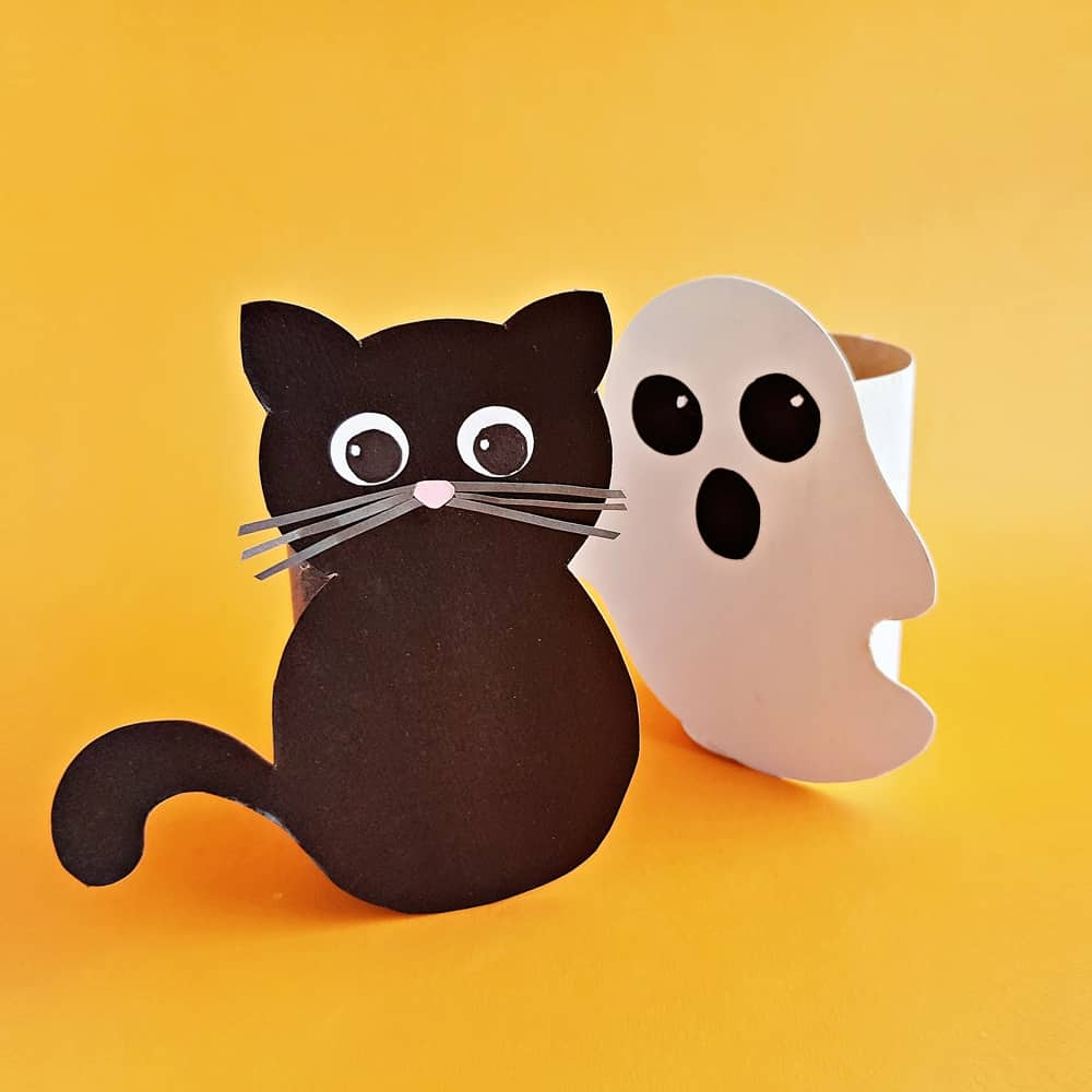 Toilet Paper Tube Halloween Craft for Kids - recycled halloween craft