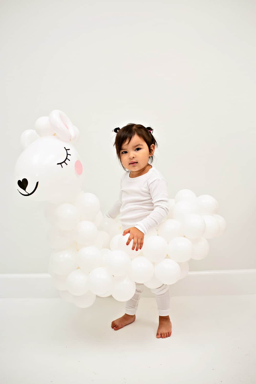 DIY Llama Balloon Costume for Kids - Halloween DIY costume
