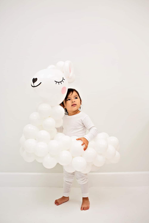 DIY Llama Balloon Costume for Kids - Halloween costume