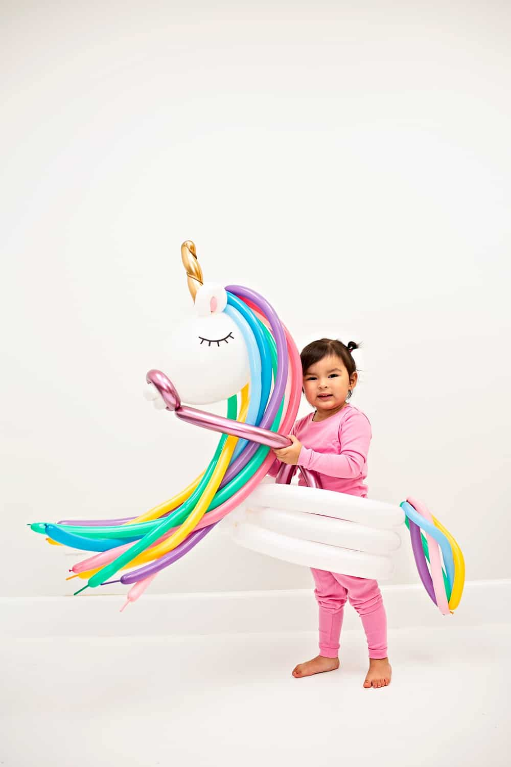 DIY Unicorn Balloon Costume for Kids