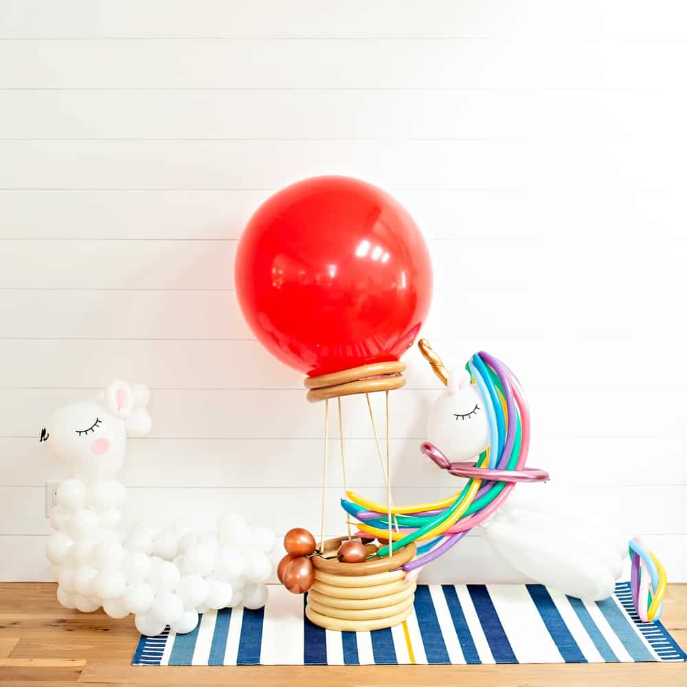 DIY Balloon Costumes - hot air ballon, llama, unicorn