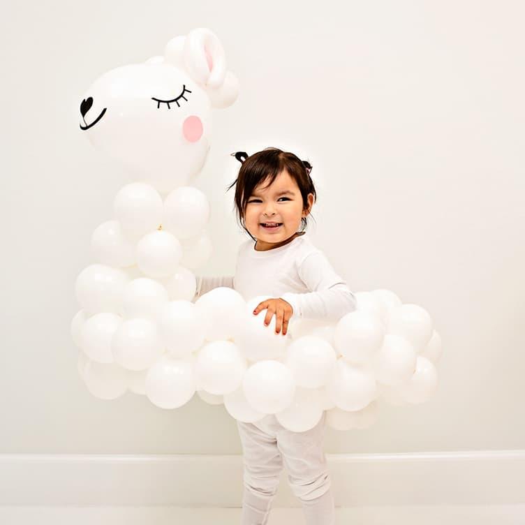 DIY Llama Balloon Costume for Kids