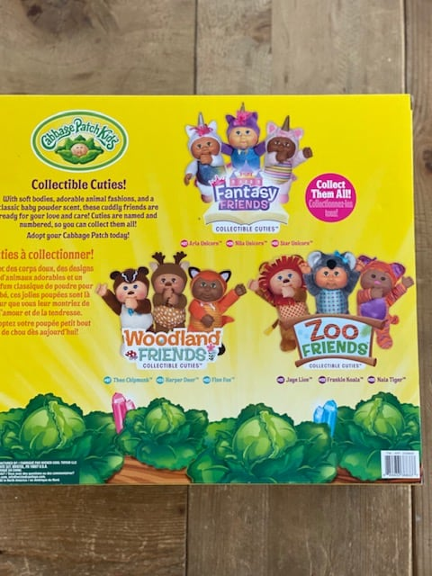 Costco Cabbage Patch Dolls 3 Pack back of box