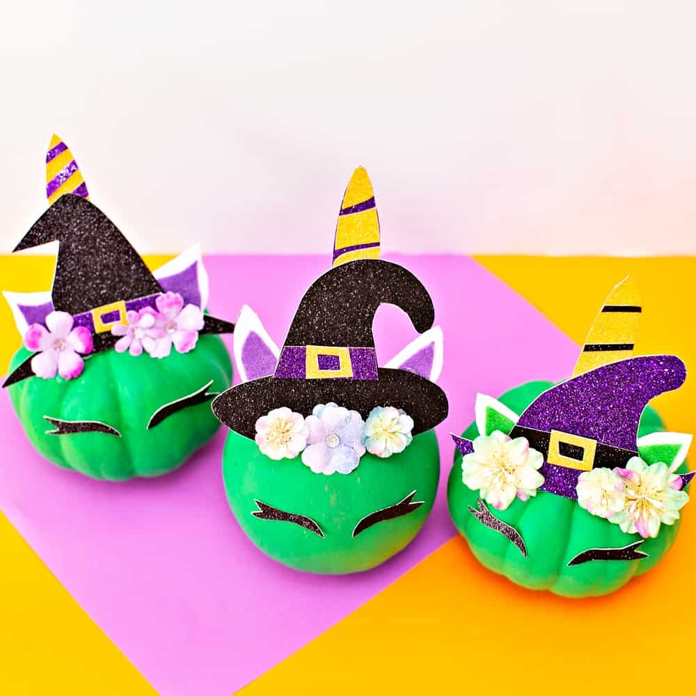DIY Pumpkin Unicorn Witch