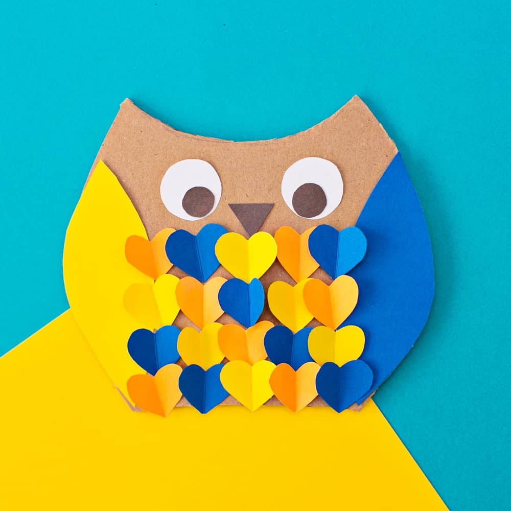 CARDBOARD OWL WOODLAND ANIMAL CRAFT