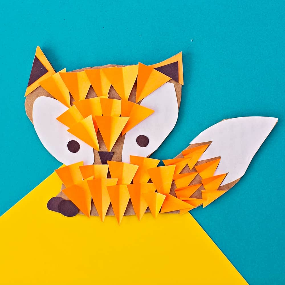 CARDBOARD FOX WOODLAND ANIMAL CRAFT