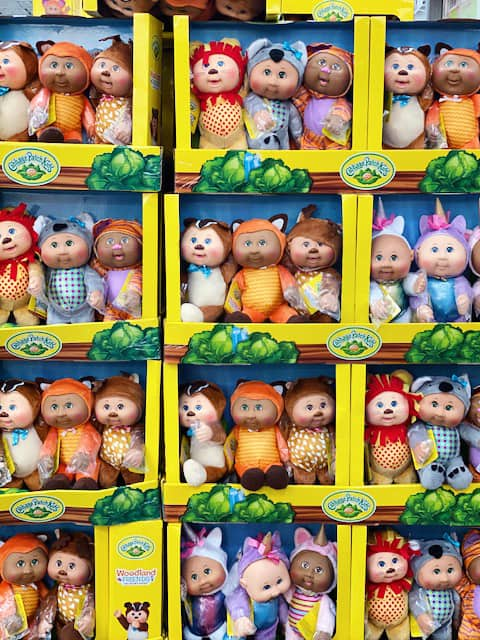 Costco Cabbage Patch Dolls 3 Pack - all in a row