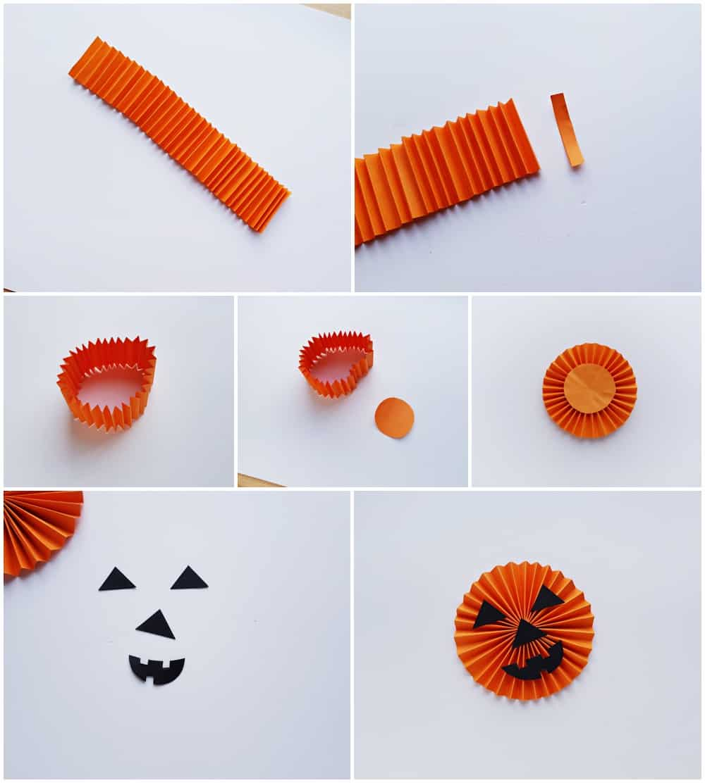 Halloween Paper Accordion Craft - process