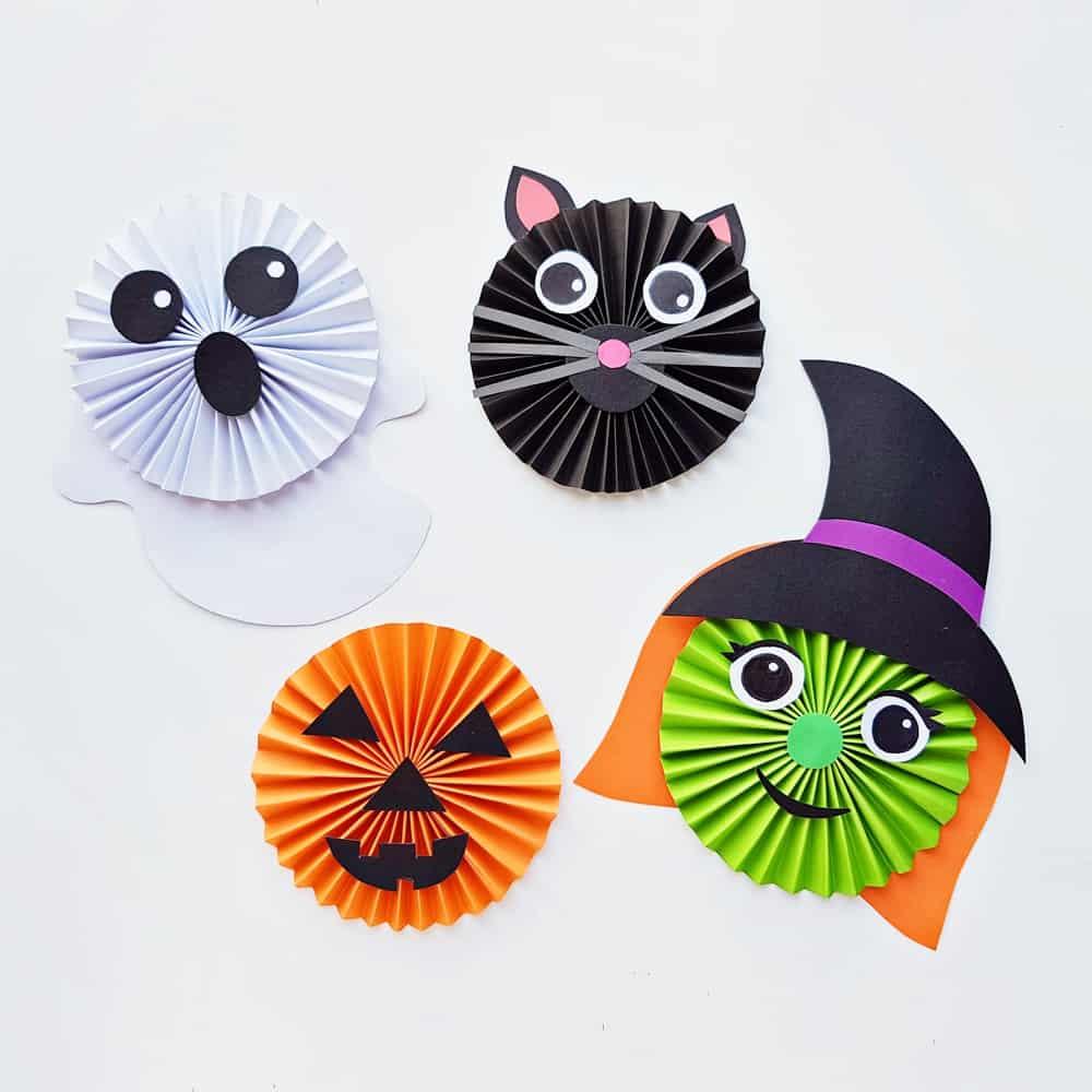 Halloween Paper Accordion Craft for kids