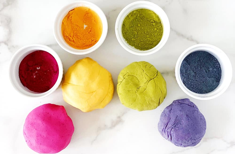 natural dye homemade playdough recipe