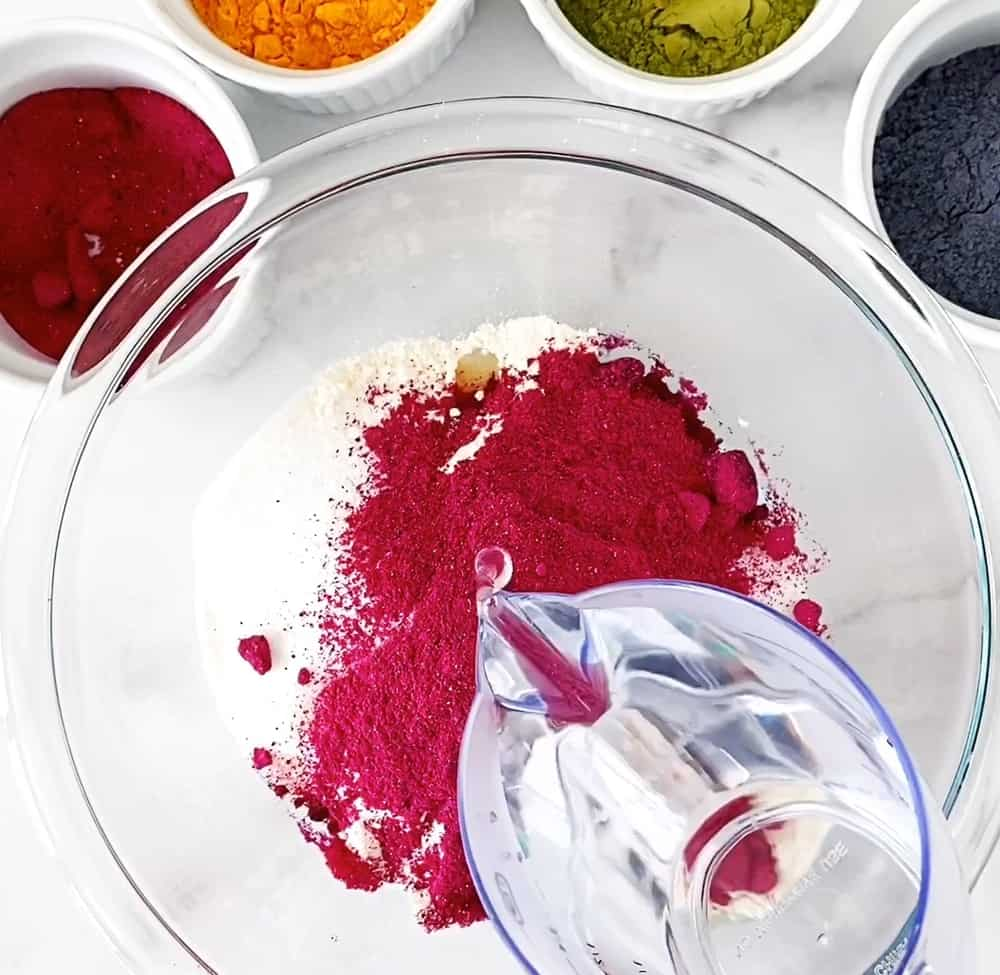 natural dye homemade playdough recipe - process