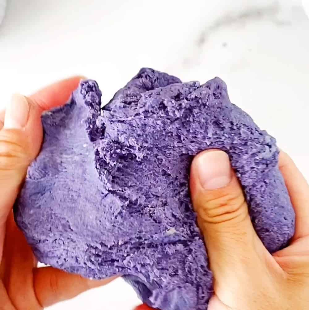 natural dye homemade playdough recipe - butterfly pea