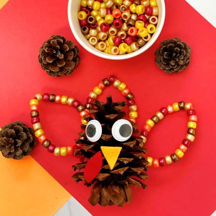 FINE MOTOR PINE CONE TURKEY CRAFT