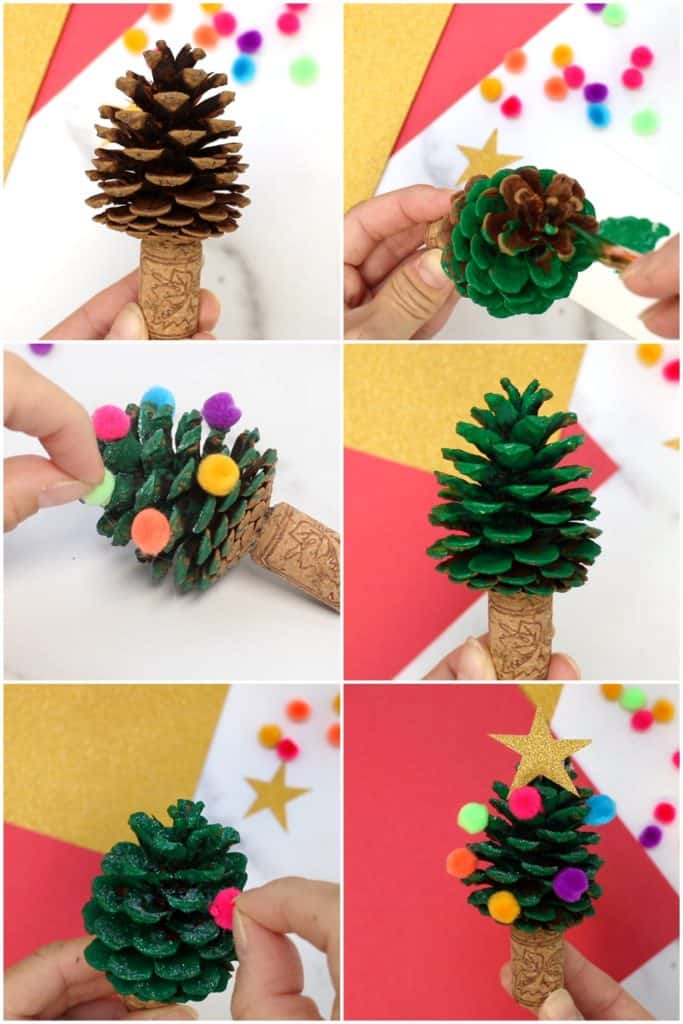 Pine Cone Christmas Tree Craft Hello Wonderful