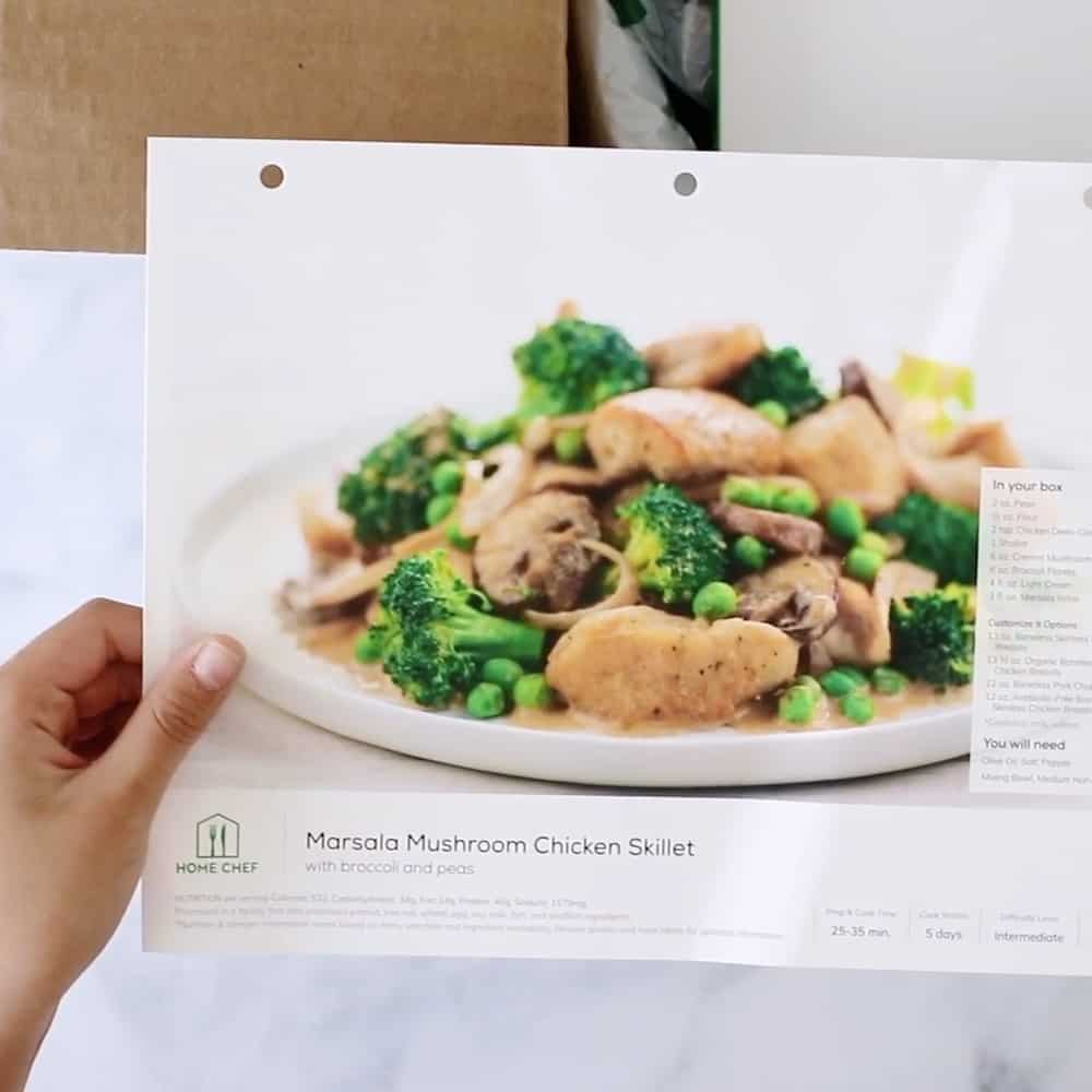 LET YOUR KIDS COOK DELICIOUS MEALS WITH HOME CHEF - Marsala Mushroom Chicken Skillet