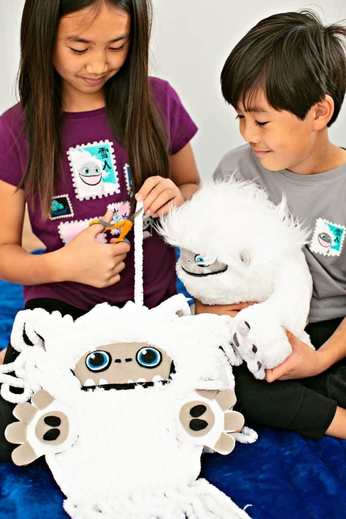 CARDBOARD ABOMINABLE YETI SCISSOR CUTTING ACTIVITY