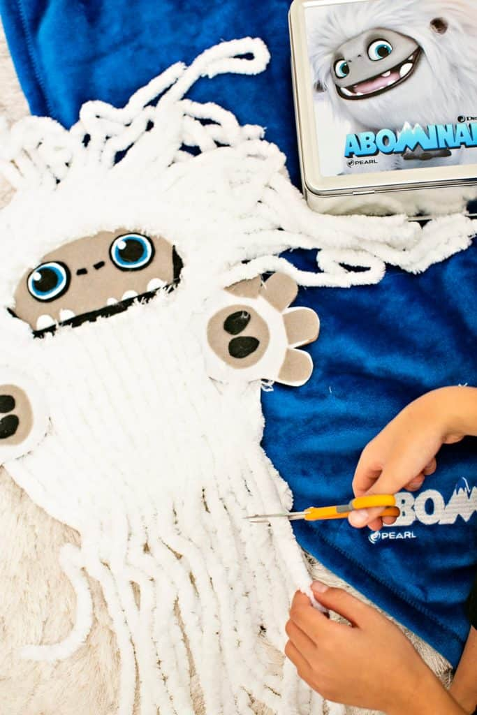 CARDBOARD ABOMINABLE YETI SCISSOR CUTTING ACTIVITY for kids