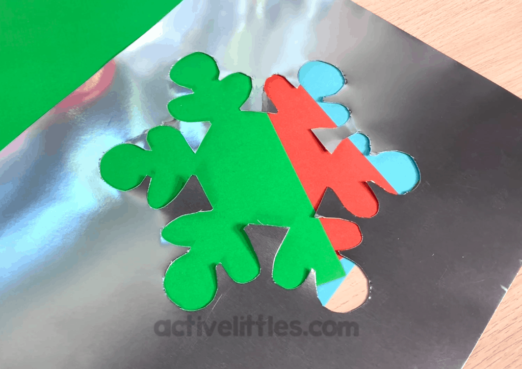 Glitter Snowflake Sensory Bag Activity for Kids - Process
