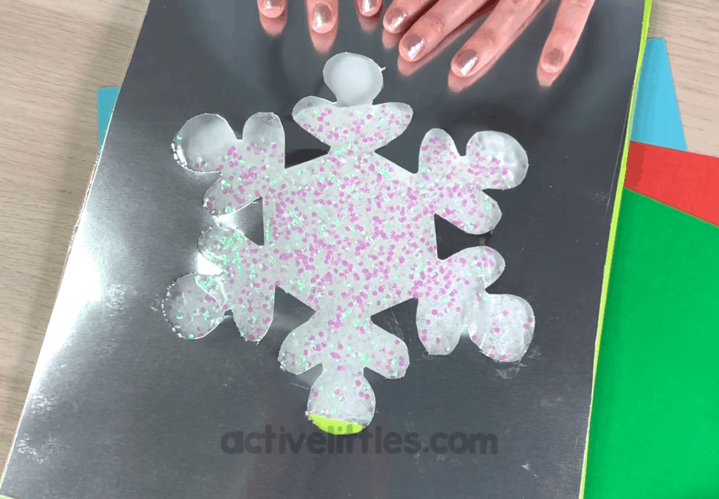 Glitter Snowflake Sensory Bag Activity for Kids