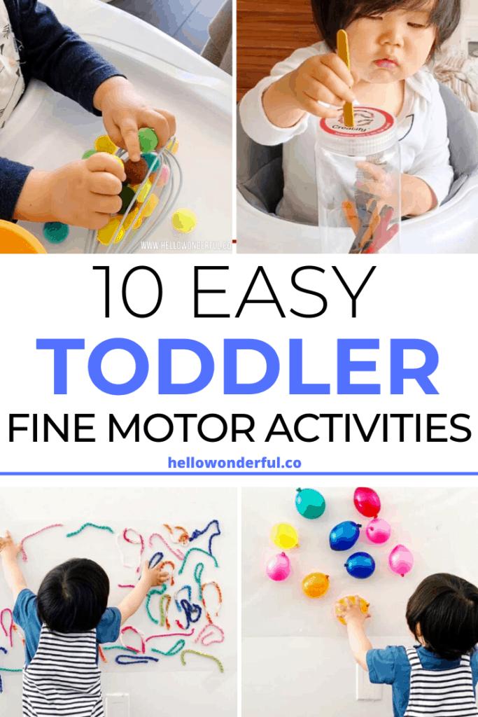 easy toddler baby fine motor skills activities