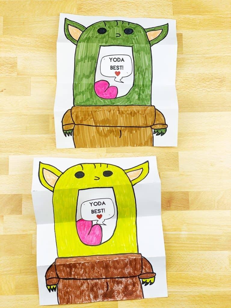DIY Baby Yoda Paper Card