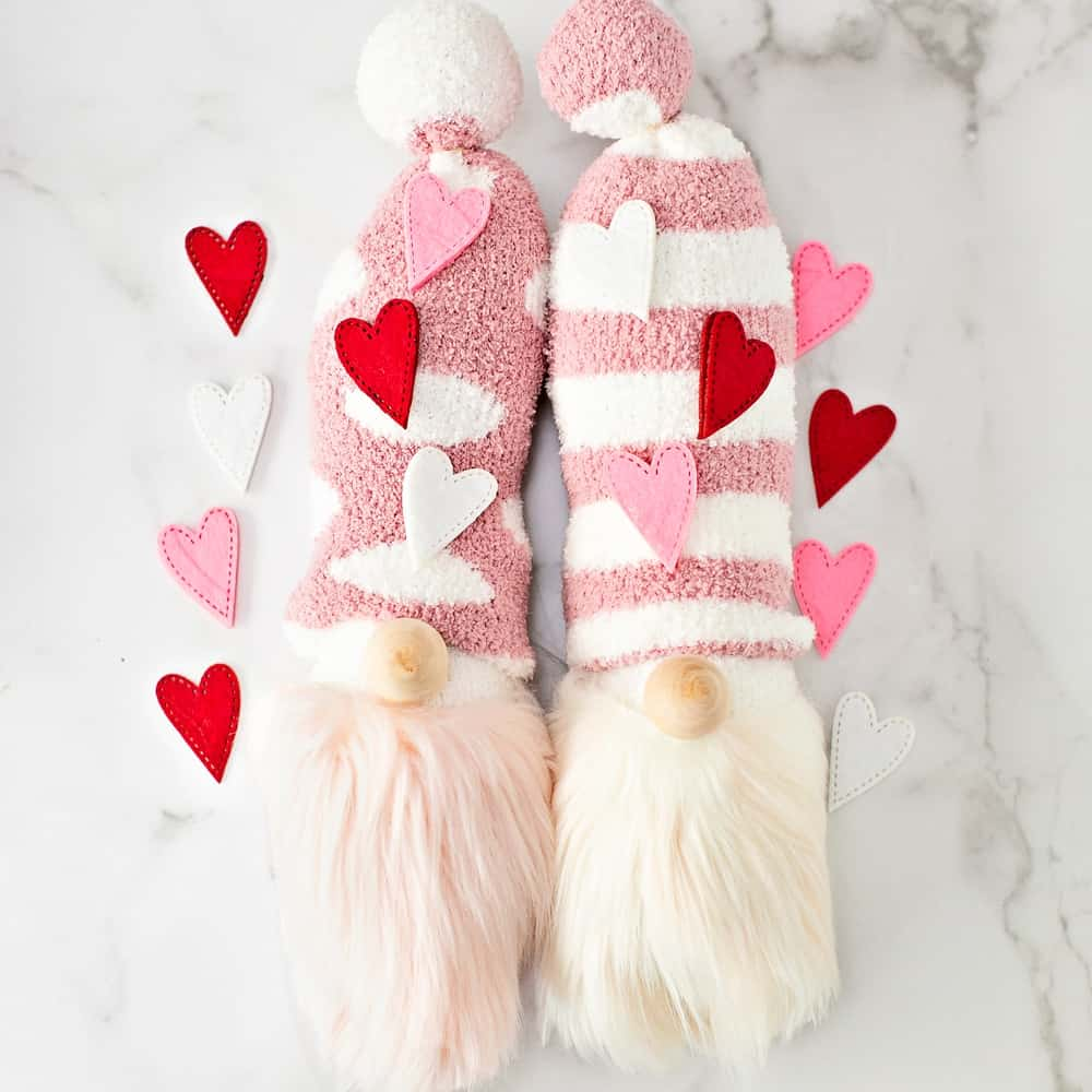 DIY Valentine Gnomes. Cute Valentine Craft for Kids.