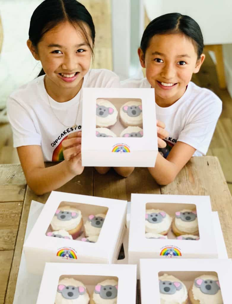 Cupcakes For Koalas started by two kid bakers to raise money for the Australian Fires.