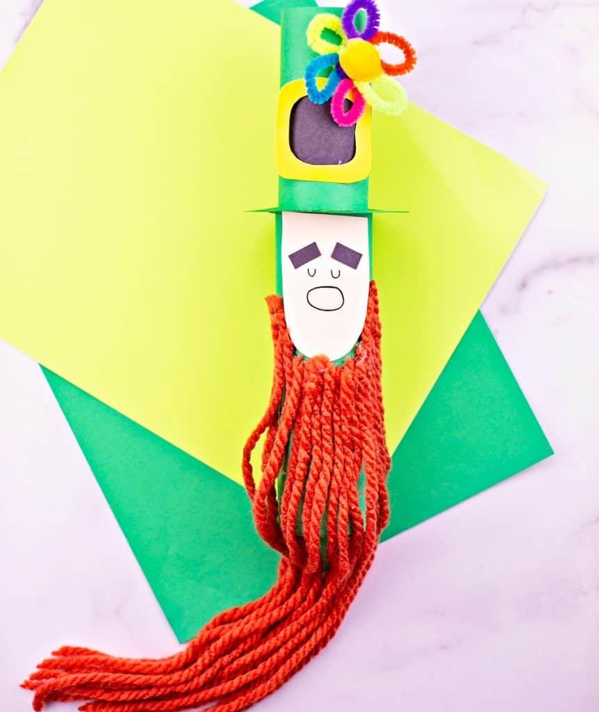 Trim the leprechaun beard st. patrick's day craft for kids