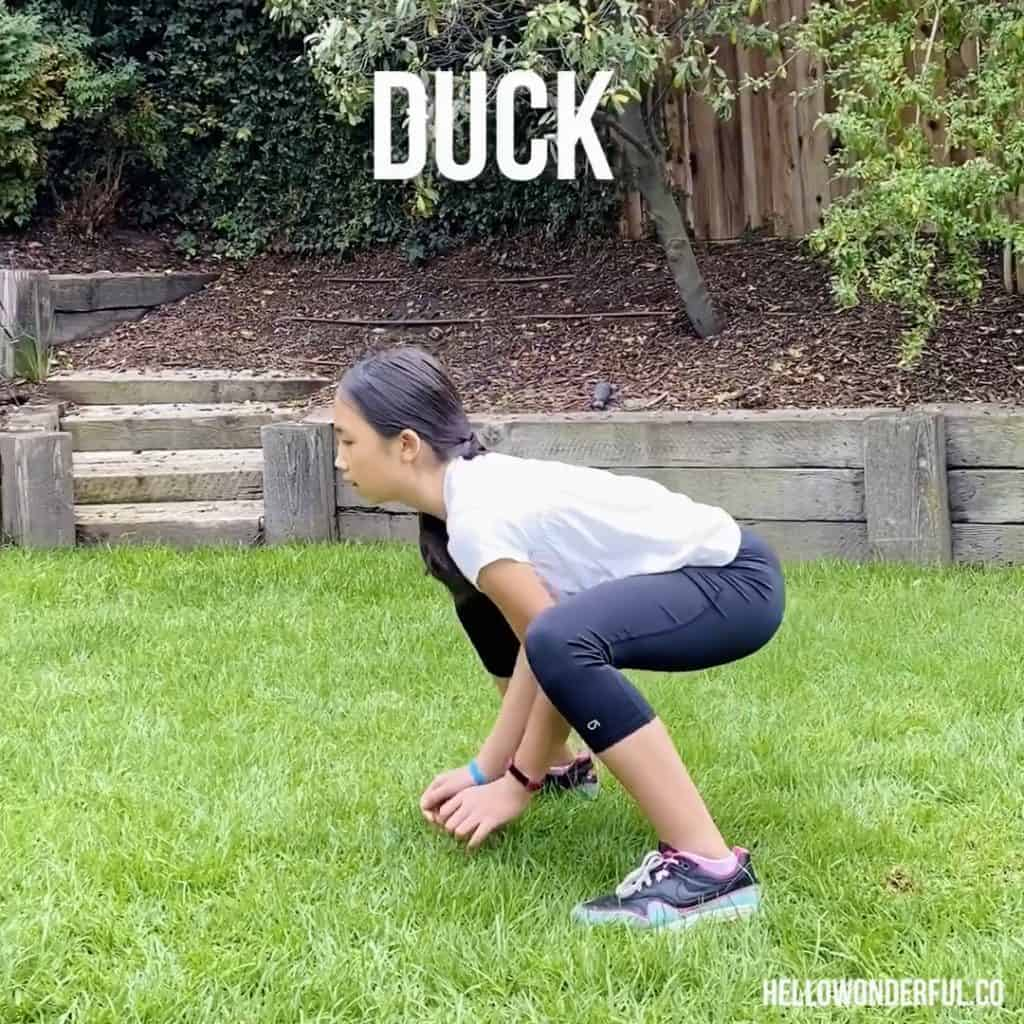 Animal Exercise for Kids. Duck Walk