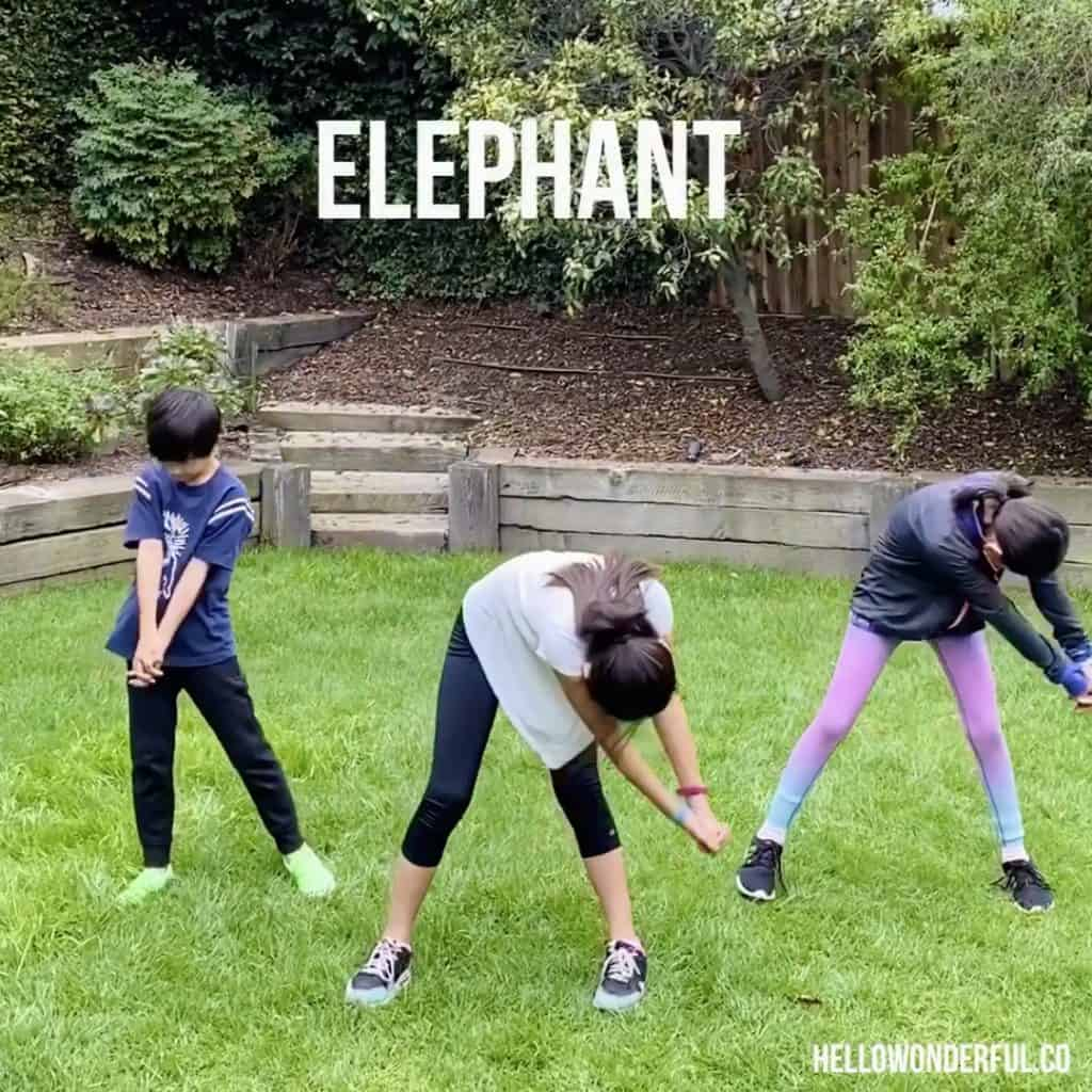 Animal Exercise for Kids. Elephant