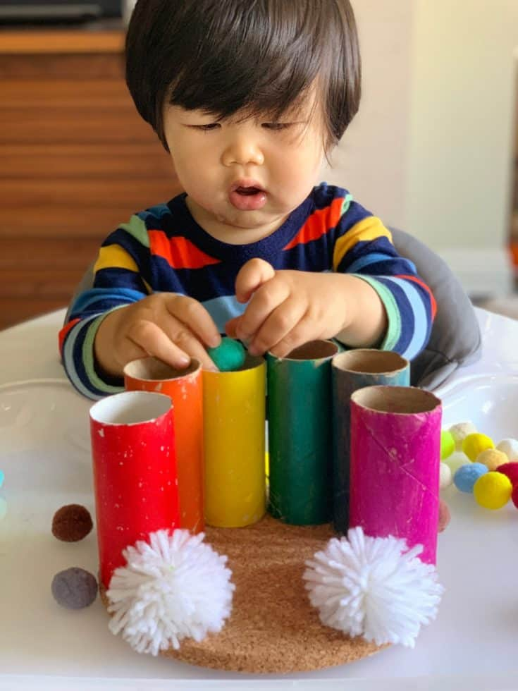 RAINBOW POM POM DROP ACTIVITY