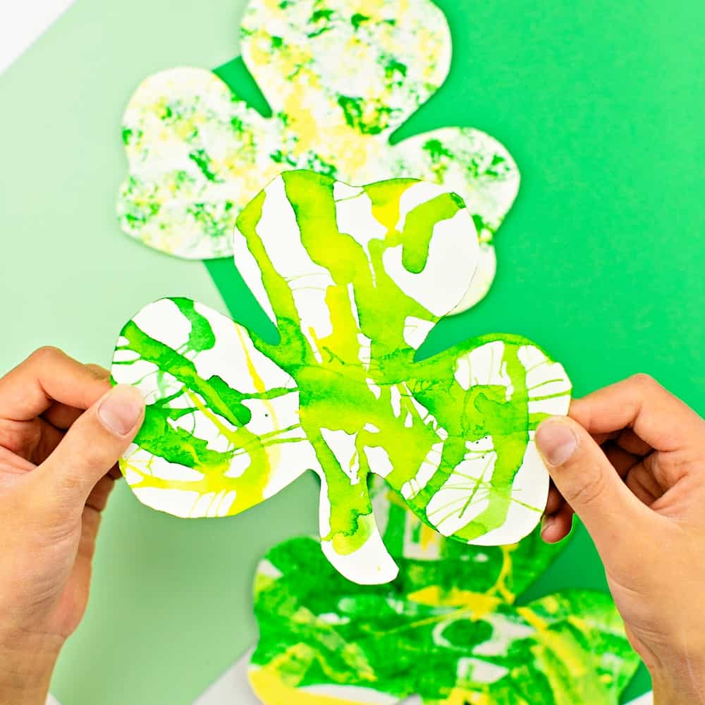 Shamrock Art Projects for Kids. Pretty St. Patrick's Day arts and crafts for kids
