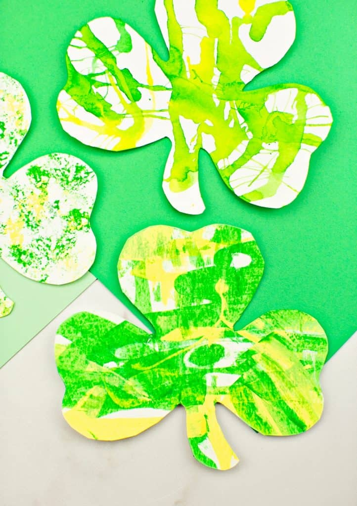 Shamrock Art Projects for Kids. St. Patrick's Day arts and crafts for kids