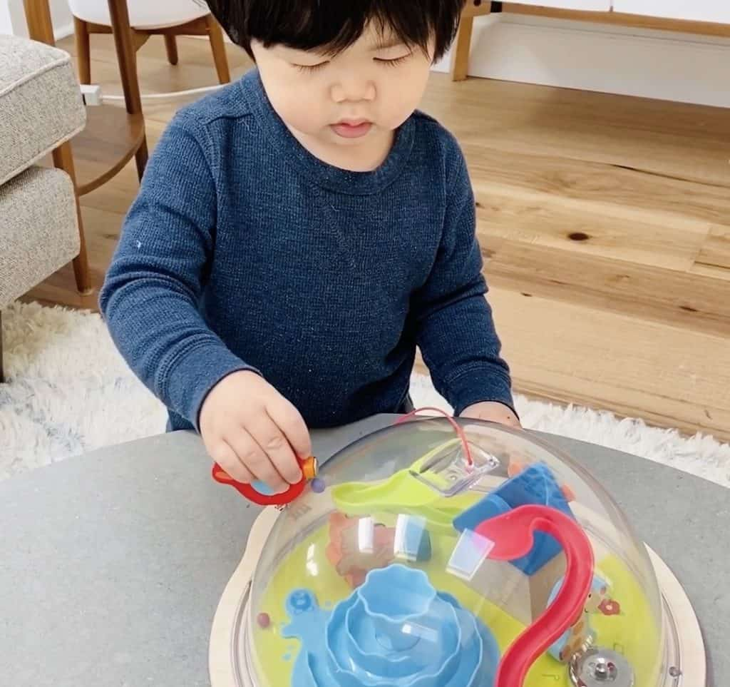 Magnetic Toy Maze. Fine Motor Preschool Toy.