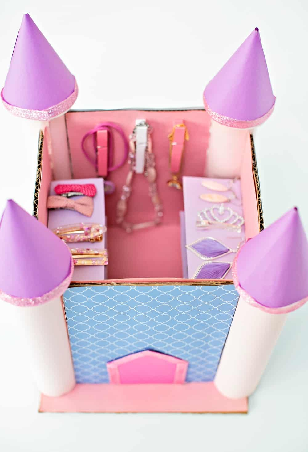 Cardboard Castle Jewelry Box