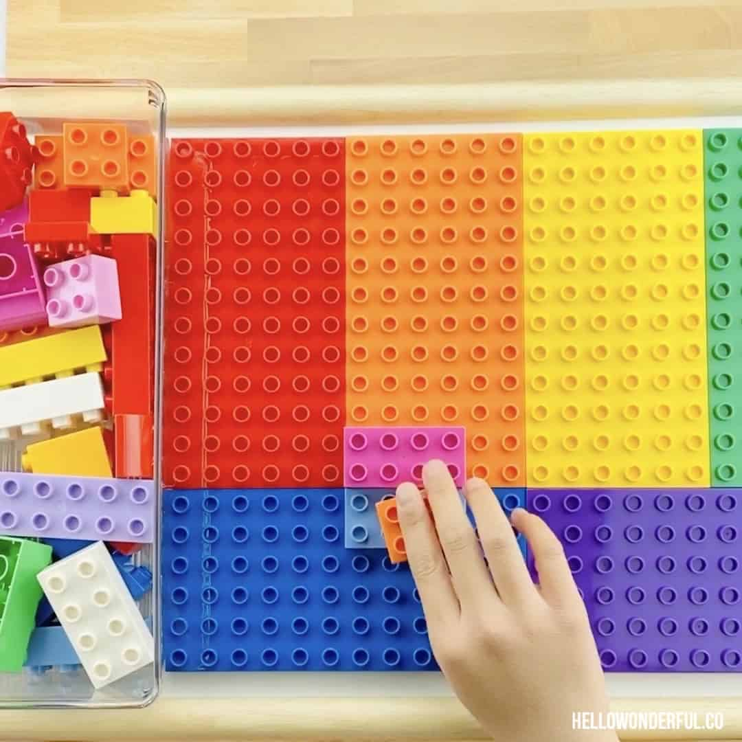 EASY DIY LEGO TRAY TABLE