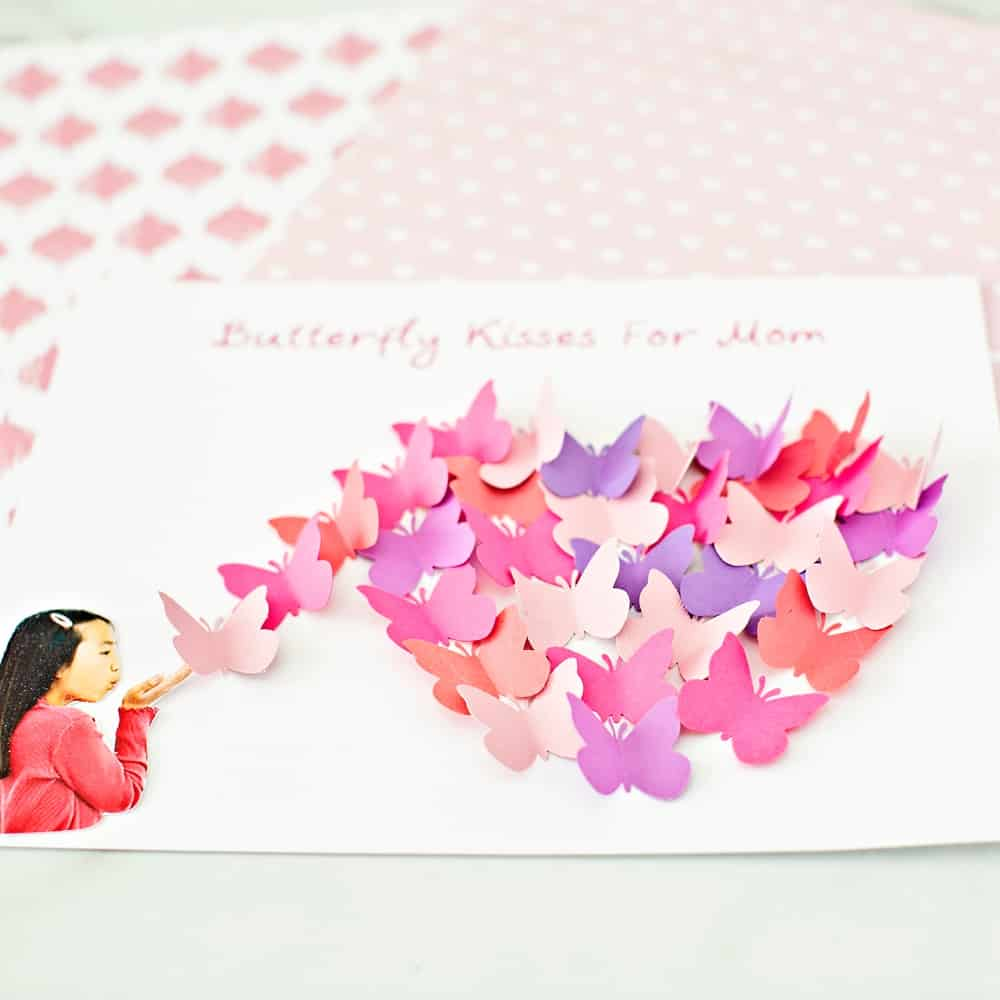 Butterfly Paper Art for Mother's Day